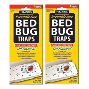 2 Pcs Harris Bed Bug Early Detection Glue Traps (4/Pack) BBT-1