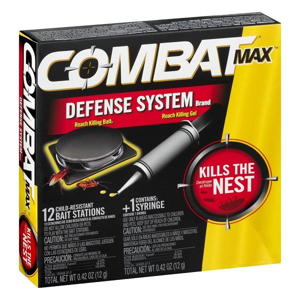 Combat Max Defense System Brand, Small Roach Killing Bait And Gel, 12 Counts