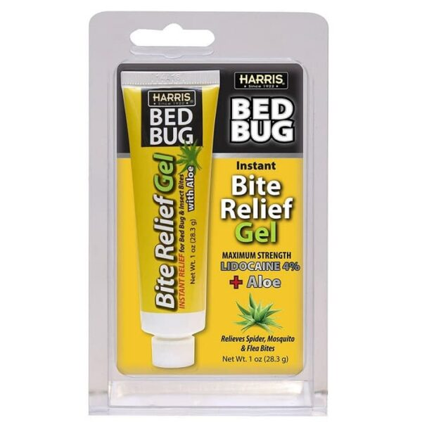 Harris Bed Bug Bite Instant Relief Gel 1oz Tube With Aloe