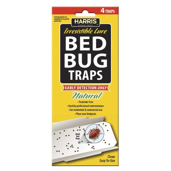 Harris Bed Bug Early Detection Glue Traps (4/Pack) BBT-1