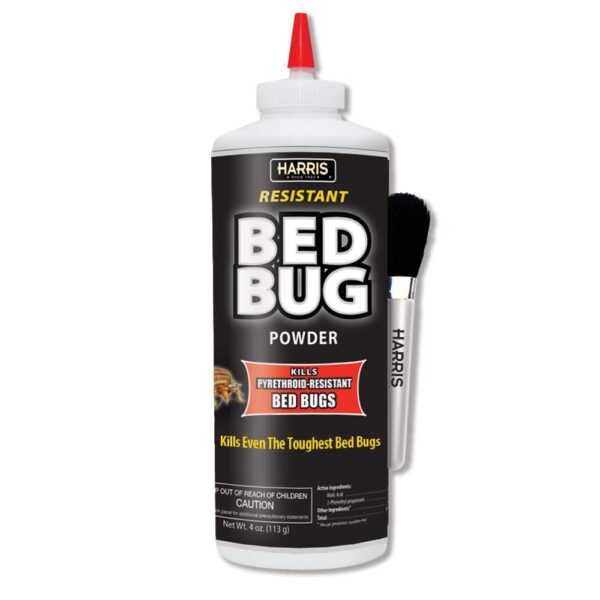 Harris Bed Bug Killer Powder 4oz With Application Brush
