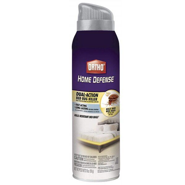 Ortho Home Defense Dual-Action Bed Bug Killer Aerosol Spray 18-Ounce (Kills Bed Bugs Fleas Dust Mites & Stink Bugs)