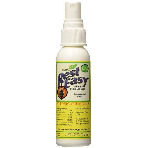 Rest Easy Environmentally Friendly Bed Bug Spray Twin Travel Pack Net 4fl Oz