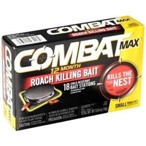 Combat 12 Month Roach Killing Bait, Small Roach Bait Station, 0.64 Ounce, 18 Count - Cockroaches Killer