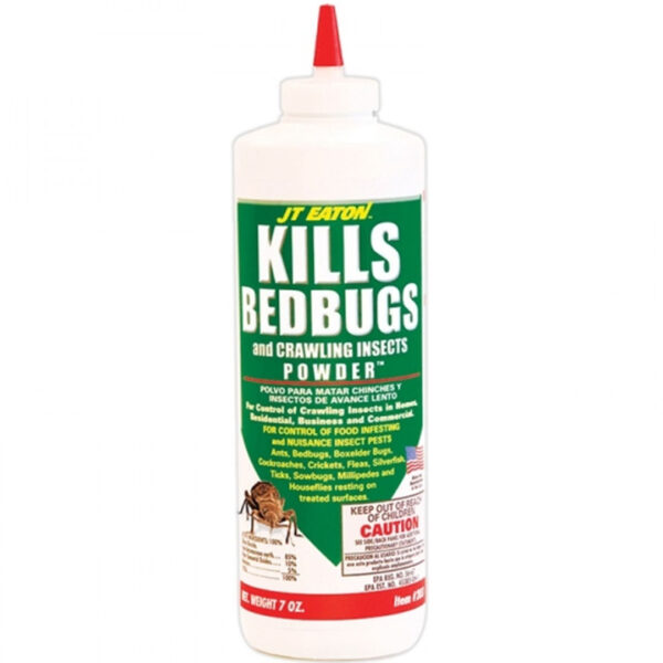 JT Eaton 203 Bedbug Killer And Crawling Insect Powder With Diatomaceous Earth, 7-Ounce Bottle