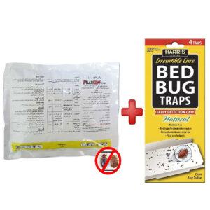 Pilarking Bed Bugs Killer Powder With 4 Pcs Harris Bed Bug Traps PKBB05