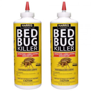 2 Pcs Harris Bed Bug Killer, Diatomaceous Earth Powder, Fast Kill With Extended Residual Protection (8oz)