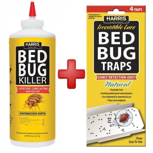 Harris Bed Bug Powder And Bed Bug Traps Bundle HHBB03